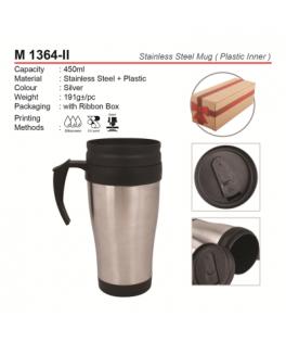 M 1364  Stainless Steel mug ( Inner plastic)