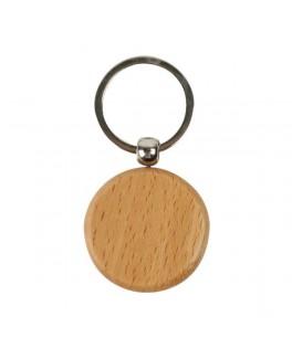 Wooden Round Keychain