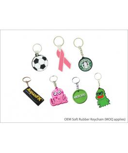 OEM Soft Rubber Keychain (MOQ applies)