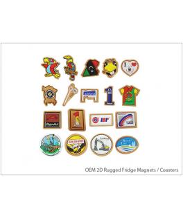 OEM 2D Rugged Fridge Magnets / Coasters